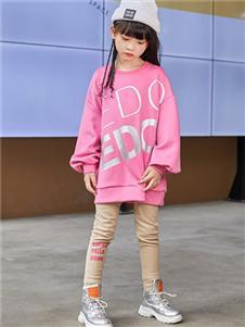 一度童装字母印花卫衣