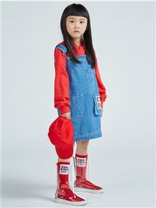 一度童装新款背带裙