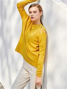 JCOA茧构黄色上衣