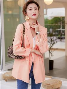 样女装样YANG粉橘色外套