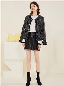 拉夏贝尔女装2020秋冬外套