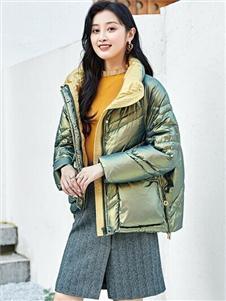 爱诗帛雅女装2020秋冬装棉服