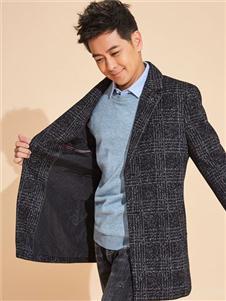 罗蒙格子大衣