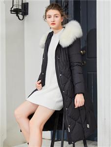 金蝶茜妮新款黑色羽绒服