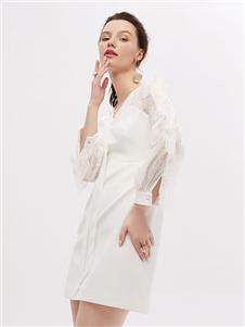 紅貝緹女裝2020秋冬裝襯衫裙