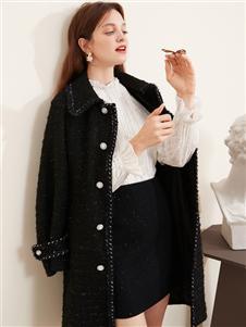 Gemanting戈蔓婷女装戈蔓婷新款黑色大衣