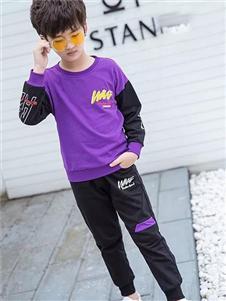 邻童优品童装紫色T恤