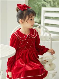 动漫童话新款红色连衣裙