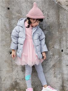 玛玛米雅小童粉色羽绒服