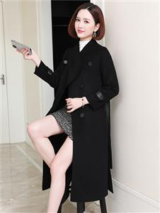 MODEERN女装黑色大衣