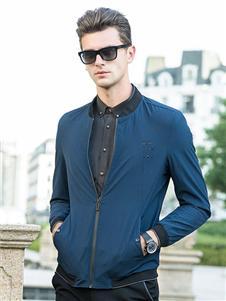 时代森迪男装蓝色夹克