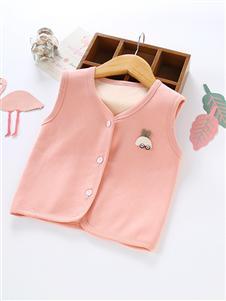 喜洋洋童装加绒马甲粉色