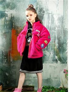 时尚小鱼童装时尚小鱼红色羊羔绒