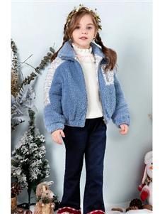 时尚小鱼童装时尚小鱼羊羔绒外套