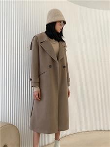 印象主题长款大衣