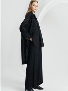 宝姿女装秋冬装黑色大衣