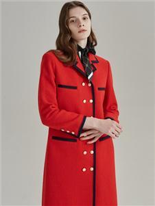歐碧倩紅色大衣