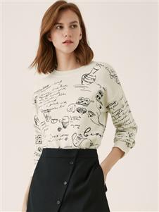 歐碧倩涂鴉款針織衫