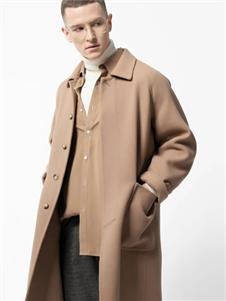 骆豪驼色大衣