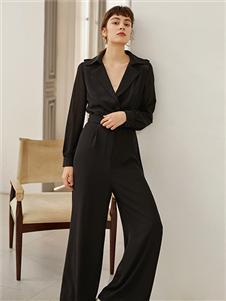 奥伦提女装黑色知性套装