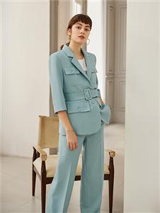 奥伦提优雅蓝色套装西服