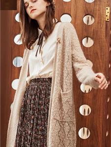 如缤女装秋冬款针织开衫