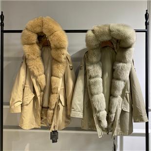 供應派克服2020冬時尚新款,大 狐貍毛領,湖北批發