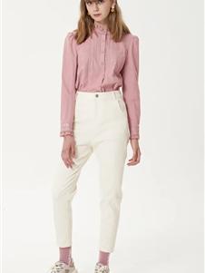 艺域女装艺域女装新款粉色衬衫