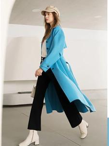 艺域女装艺域女装新款蓝色大衣