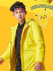 七波辉新款黄色棉服