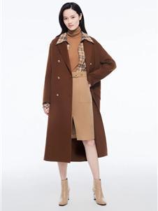 芭蒂娜女装新款咖色大衣