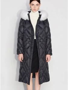 欧时力女装新款黑色羽绒服