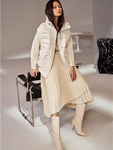 欧时力女装新款短款棉服