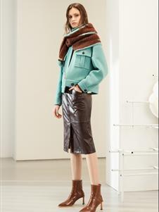 雪歌女装雪歌女装新款短款大衣