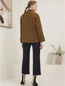海兰丝女装新款短款大衣