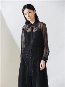 阿莱贝琳黑色蕾丝连衣裙