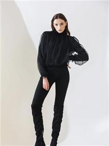 阿莱贝琳黑色上衣