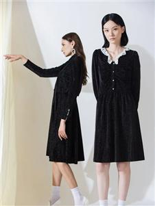 阿莱贝琳黑色连衣裙