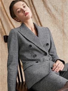 TieForHer女装2020新款条纹西装