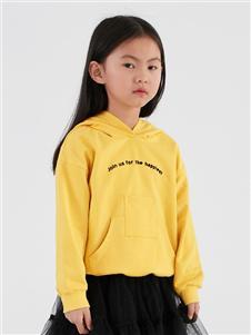 因否童装因否童装2020秋冬装黄色卫衣