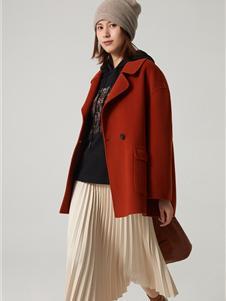 那禾女装新款红色大衣