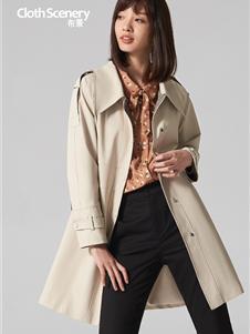 布景女装布景女装新款米色大衣