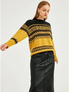 迪赛尼斯女装新款条纹毛衣