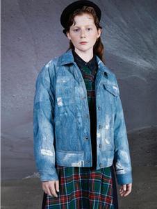 谜底女装新款牛仔外套