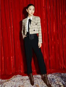 歌锦女装新款格子外套