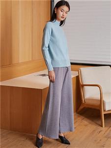 蔓诺蒂女装蓝色针织衫