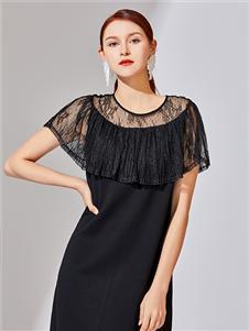 音菲梵女装音菲梵21夏款唯美小黑裙