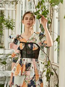 贝洛安女装贝洛安2021春夏款印花裙