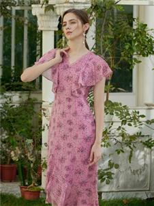 贝洛安女装贝洛安2021春夏款粉色印花
