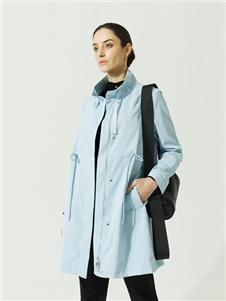约布女装约布蓝色外套